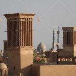 تصویر با کیفیت بادگیر ها و بافت قدیمی شهر یزد