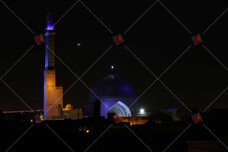 تصویر با کیفیت نمای کامل مسجد جامع یزد