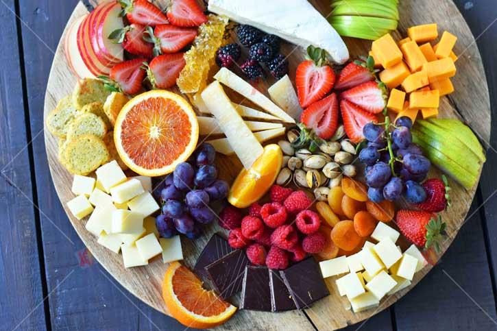تصویر با کیفیت برش میوه ها high quality fruits picture