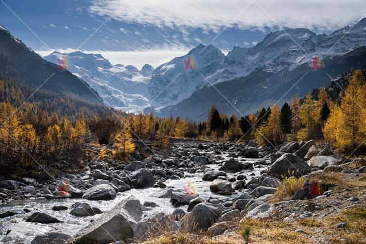 تصویر با کیفیت کوهستان در پاییز high resolution mountain picture