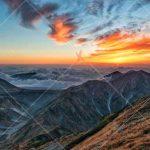 تصویر با کیفیت غروب کوهستان high resolution mountain sunset