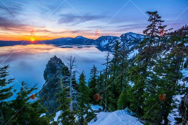 منظره غروب آفتاب و دریاچه Sunset high quality picture