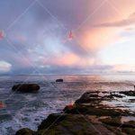 تصویر با کیفیت غروب اقیانوس high resolution ocean picture